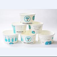 Screen Printing Paper Ice Cream Bowl