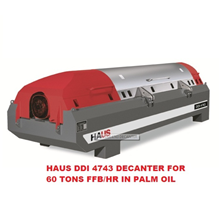 HAUS DDI 4743 Decanter For 60 Ton FFB/hr In Palm Oil