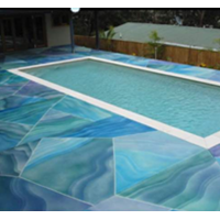 Coloured Cement Swimming Pool