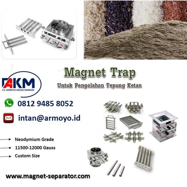 Magnet Trap Powder untuk industri tepung ketan