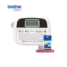 Printer Label Brother P Touch PT-90 Mesin Label + Free M-TAPE ( label)