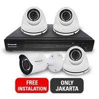 Paket Kamera CCTV Honeywell 4 CCTV + DVR Free Installation JAKARTA ONLY