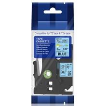 TZe-521 Black On Blue 9mm Brother Label Tape