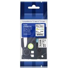 TZE-FX251 Flexible Black On White 24MM Brother Label Tape