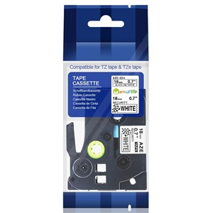 TZE-SE4 Security Tape 18mm Black On white