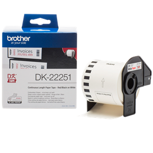 DK-22251 Brother Shipping Label [BLACK AND RED] Continuous Length Paper Tape 62mm (15.24m)