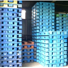 Pallet Plastik bekas uk 74x74x12 cm 6