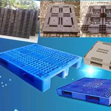 Used plastic pallet of various