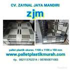 Pallet plastik bekas Ukuran 1100 x 1100 x 150 1
