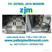 Pallet plastik bekas Ukuran 1100 x 1100 x 150