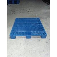Pallet plastik bekas ukuran 110x110x15 cm model rata Lot  3 ton  Murah 5