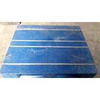 Pallet plastik bekas / baru dengan kondisi 80% dengan ukuran 120x100x16 cm Murah 5