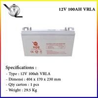 Jual Voz 12V 100 Ah Baterai Aki Kering Solar cell