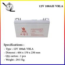 Voz 12V 100 Ah Baterai Aki Kering Solar cell
