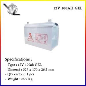 Baterai Kering Voz 12V 100 Ah GEL