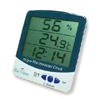 Higrometer Thermohygrometer Clock Blue Gizmo
