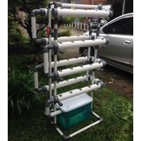Kit Hidroponik Nft Dft Pipa Pvc 40 Lubang Fullset