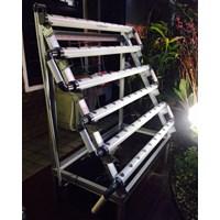 Distributor Kit Hidroponik Nft Dft 60 Lubang Rangka Baja Ringan Fullset 3