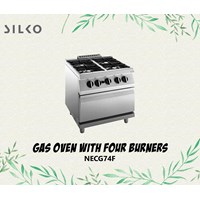 Silko Gas Oven With 4 Burner Necg474f
