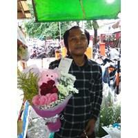 bunga tangan mawar merah 1