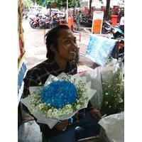 bunga tangan hydrangea biru 1