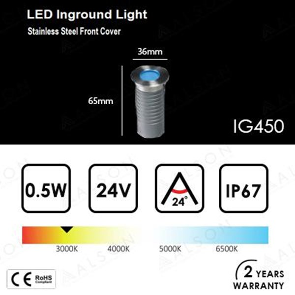 Lampu Downlight LED Inground 0.5 Watt