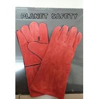 Sarung Tangan Safety Las Merah