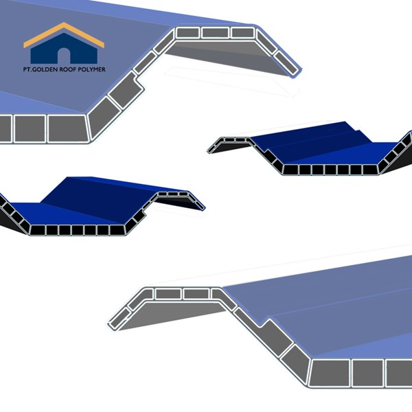 Pabrik Atap Pvc ASA Biru Lafla Genteng