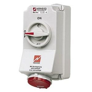Wall mounted receptacle