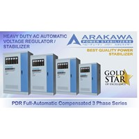 Arakawa Stabilizer 300 KVA Automatic PDR Full Automatic Compensated 3 Phase