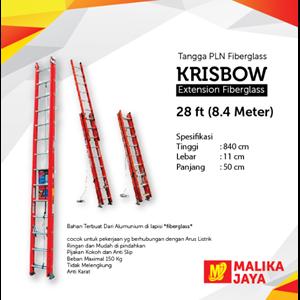 Tangga PLN Fiberglass Krisbow 28 Ft (8.4 Meter)
