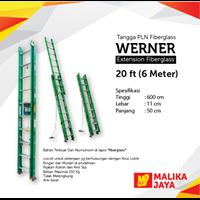 Jual Tangga PLN Fiberglass Werner 20 Ft (6 Meter)