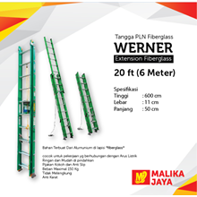 Tangga PLN Fiberglass Werner 20 Ft (6 Meter)