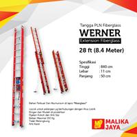 Tangga PLN Fiberglass Werner 28 Ft (8.4 Meter) 1
