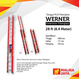 Tangga PLN Fiberglass Werner 28 Ft (8.4 Meter)