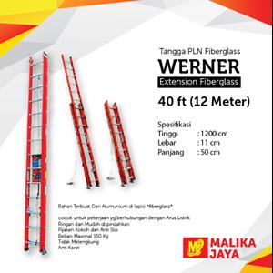 Tangga PLN Fiberglass Werner 40 Ft (12 Meter)