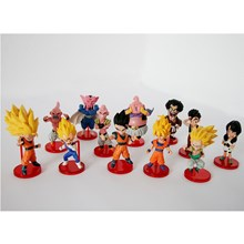 mainan Dragon Ball 12 pc per set action figure Miniatur Anime