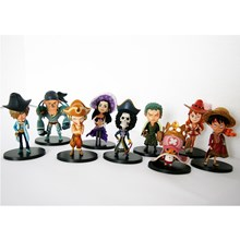 Mainan One Piece 9pc per set action figure Miniatur Anime