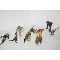 Dinosaurus 1 set isi 9 pc action figure Miniatur Hewan