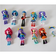 Mainan my little pony girl 9pc per set action figure Minifigure