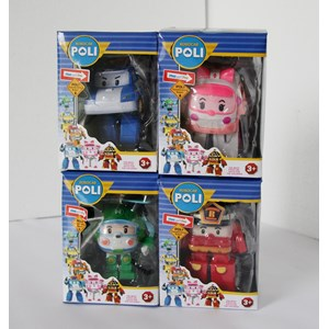 Mainan robocar Poli 4 pc per set Minifigure