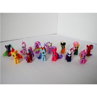 Mainan murah my little pony rambut 1 set (13pc) Minifigure