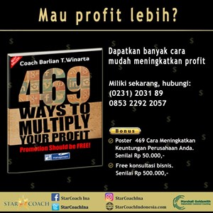 Buku 469 Ways To Multiply Your Profit By PT. Tuhan Memberkati Berlimpah