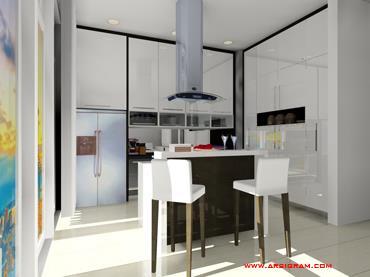 Jual kitchen set modern harga murah tangerang oleh pt for Pemasangan kitchen set
