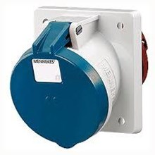 Connector Panel mounted receptacles MENNEKES CEE angled 20 16A and 32A IP 44