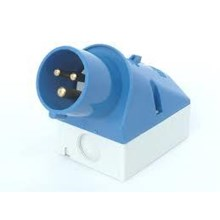 Connector Panel mounted receptacles inside fixing MENNEKES CEE 16A and 32A IP 44