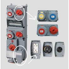 Steker Listrik Kombinasi wadah AMAXX MENNEKES pra kabel untuk instalasi IP44