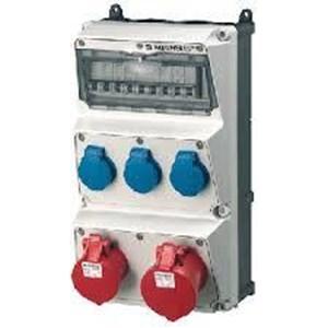 Steker Listrik Kombinasi wadah AMAXX MENNEKES pra kabel untuk instalasi IP44 5 Plug