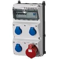 Steker Listrik Kombinasi wadah AMAXX MENNEKES pra kabel untuk instalasi IP44 4 Plug 1