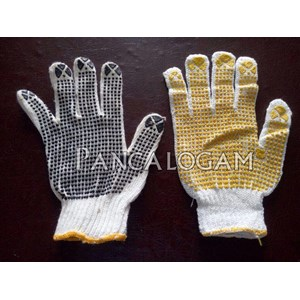 Sarung Tangan Safety Bintik Dot Hitam